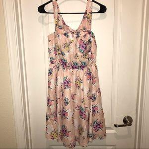 Lauren Conrad Pink Floral Dress 6